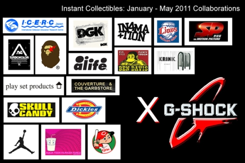 G-Shock collaborations logos