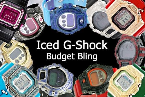 G-Shock Ice Bling diamond swarovski CZ bexels DIY budget