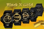 g-shock new black gold