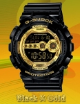 GD-100GB-1JF G-Shock Black X Gold