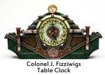 Colonel J. Fizziwigs Table Clock