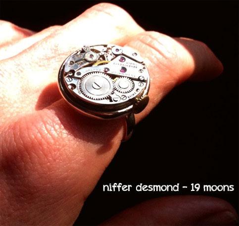 Steam punk ring watch