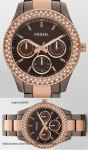 Fossil ES2955 Stella Chocolate and Rose