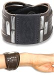 BLEESLET Diesel Bracelet -Leather, black, brown