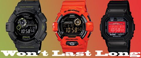 G-shock GRX5600GE-1 G9300GY-1 G8900A-4 mudman jumbo dumbo