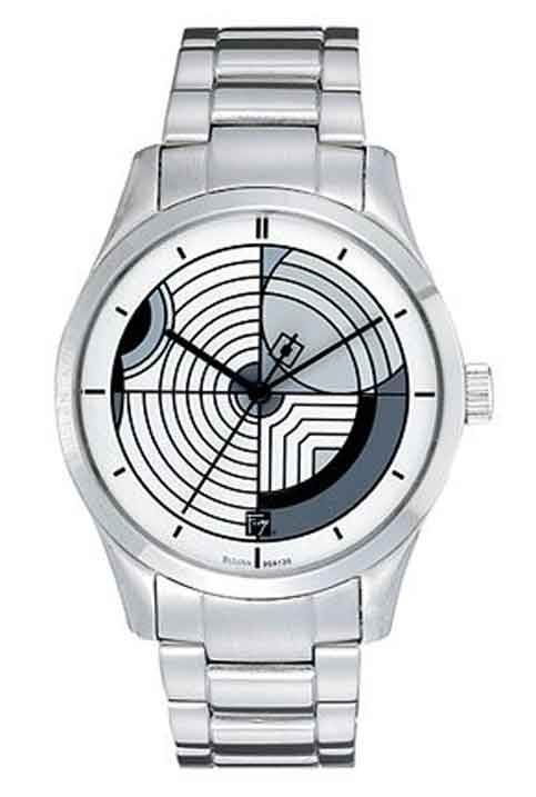 Frank Lloyd Wright Hoffman House Carpet Design Watch with Stainless Steel Bracelet