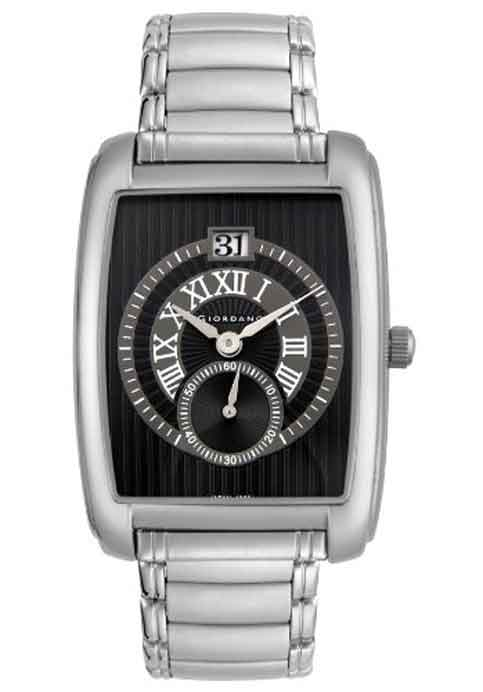 Giordano Men's Stainless Steel Black Dial 1363-22