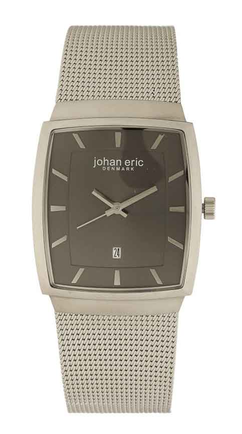 Johan Eric Men's JE1001-04-001.9 Tondor Tonneau Mesh Stainless Steel Watch