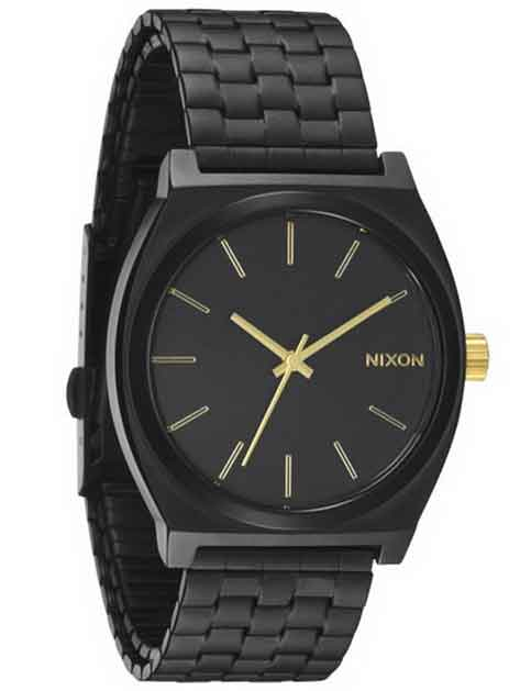 Nixon Men's A045-041 Stainless-Steel Analog Black Dial Watch