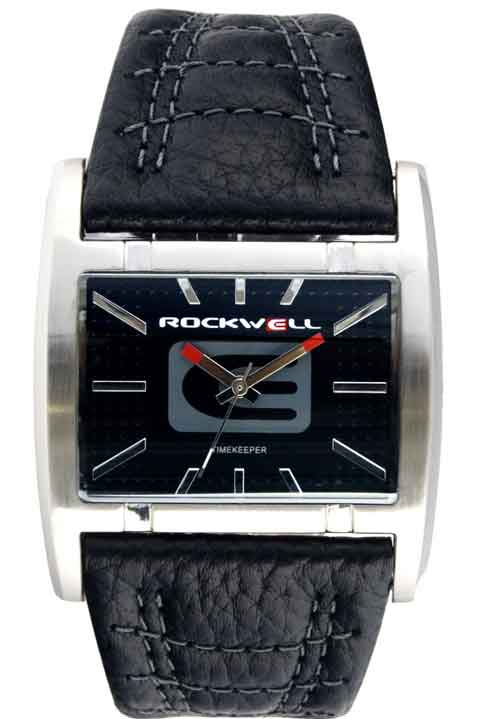 Rockwell Men's AP102 Apostle Stainless Steel Case Black Leather Band Watch