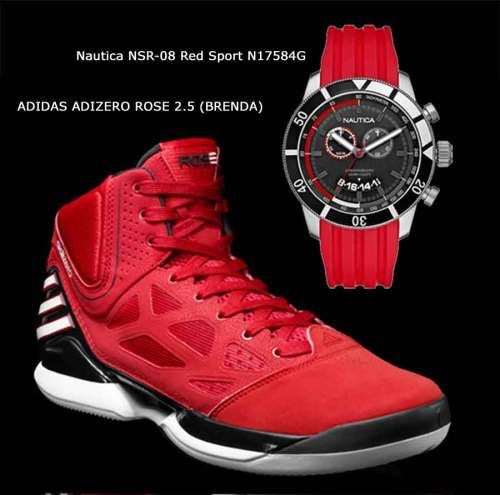 Nautica NSR-08 Red Sport N17584G, ADIDAS ADIZERO ROSE 2.5 (BRENDA)