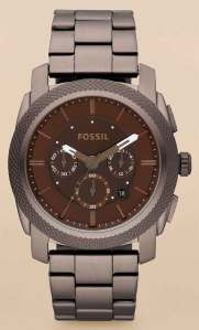 fossil_f4661 brown chrono stainless machine new 2012