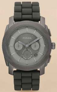 fossil_s4701 machine stainless grey rubber