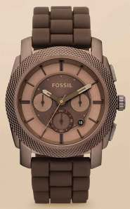 fossil_s4702 machine brown stainless chrono
