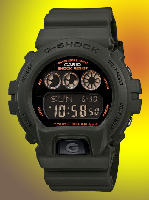 g-shock_G-6900KG-3_DR_CR solar military matte green new february 2012