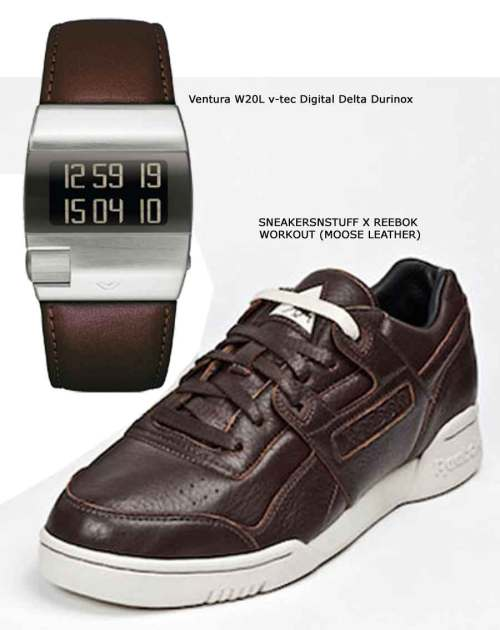 Ventura W20L v-tec Digital Delta Durinox, SNEAKERSNSTUFF X REEBOK WORKOUT (MOOSE LEATHER)