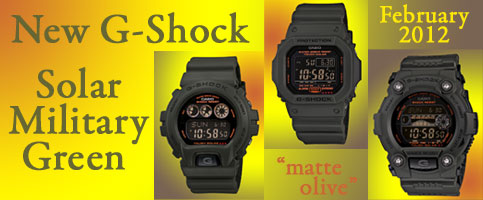 Solar_Military_Green_G-Shock GR7900KG-3, G5600KG-3 and G6900KG-3 new edition release 2012