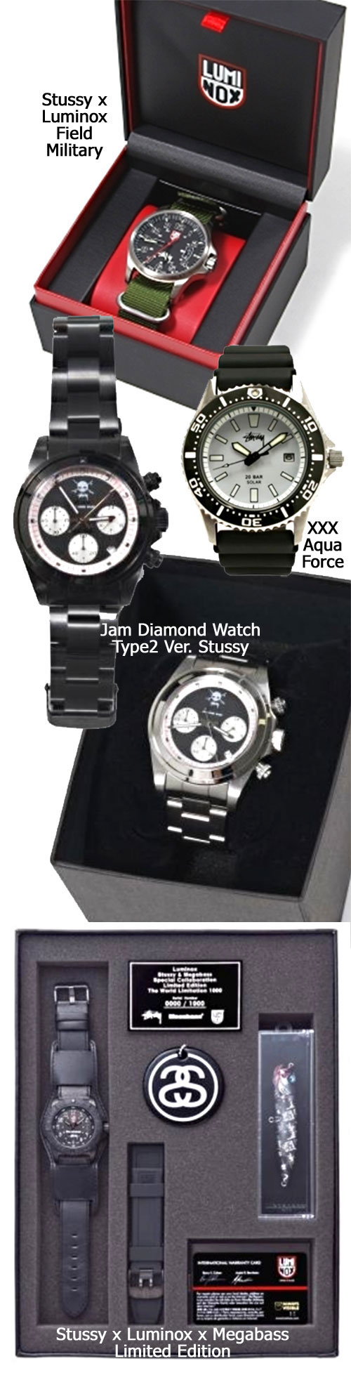 stussy watches available 2012 limited special editions