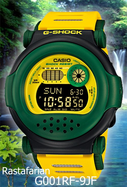 G001RF-9JF g-001rf-9jf g-shock april 2012 rastafarian