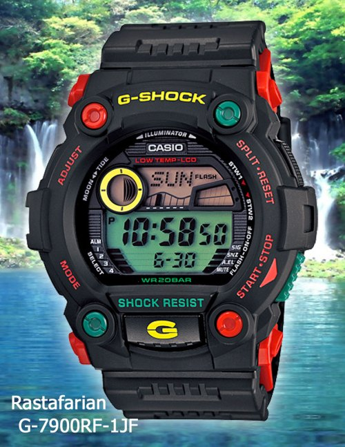 G-7900RF-1 Jamaica Rastafarian April 2012 g-shock