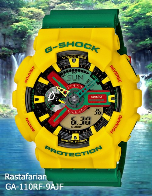Rastafarian G-Shock GA-110RF-9A April 2012 ga110rf-9a