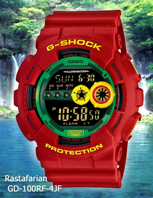 GD-100RF-4 g-shock april 2012 rasta