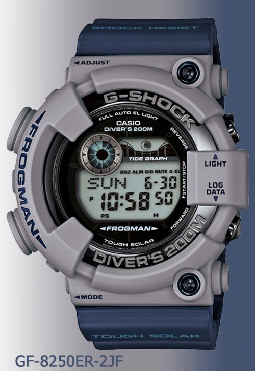 GF-8250ER-2 G-Shock Frogman men in military colors navy colorway april 2012