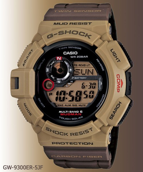 Mudman GW-9300ER-5JF g-shock april 2012 men military colors khaki