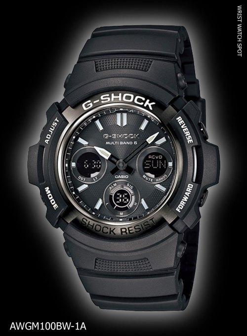 AWGM100BW-1A_g-shock awg-m100bw-1ajf, new may 2012 garish black