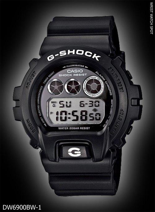 new may 2012 garish black, DW6900BW-1_G-SHOCK dw-6900bw-1