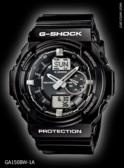 new may 2012 garish black, GA150BW-1A_g-shock ga-150bw-1ajf