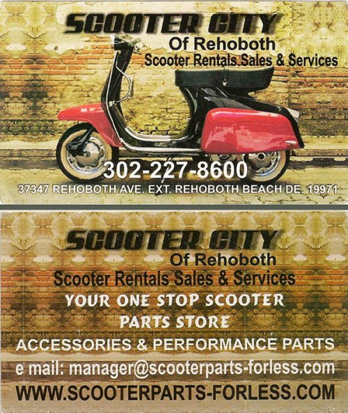 scooter city rehoboth beach delaware rentals sales mopeds custom