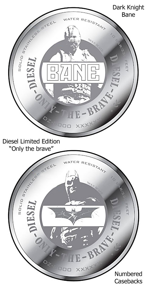 diesel dark knight bane watch caseback