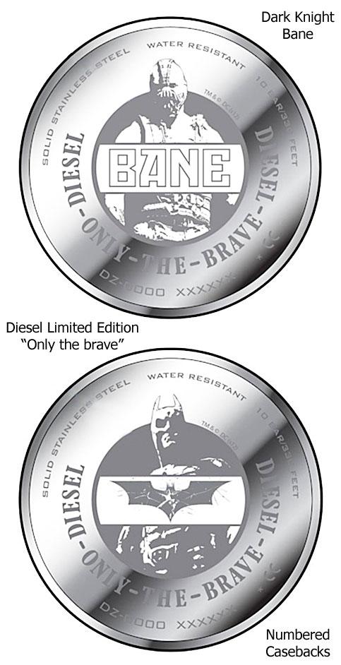 diesel dark knight bane watch caseback