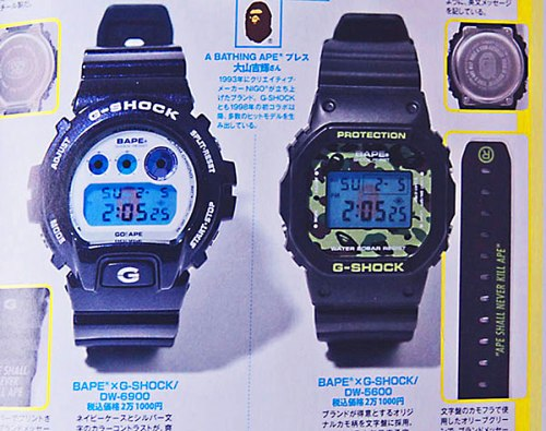 bape_x_dw6900_2012 bathing ape collaboration watch g-shock dw6900 dw5600