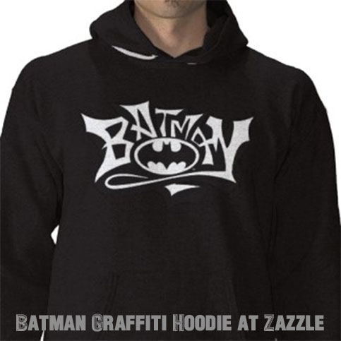 dark knight warm-up hoodie graffiti style street batman