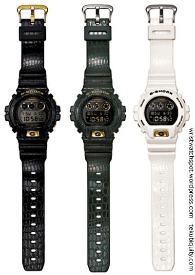 crocodile_g-shock_dw6900cr lizard reptile new watch price 2012