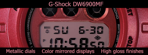 dw6900mf g-shock metallic finish mirrored lcd high gloss