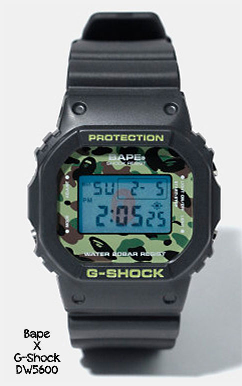 dw5600_x_Bape_camo g-shock 2012 a bathing ape collaboration watch