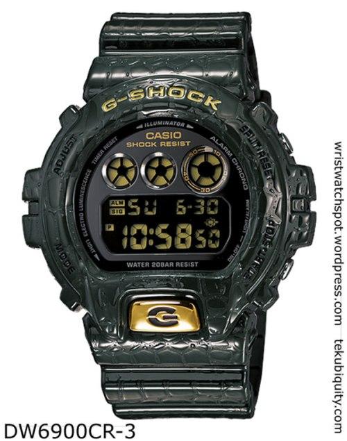 dw6900cd-3 reptile g-shock  lizard crocodile new watch price 2012