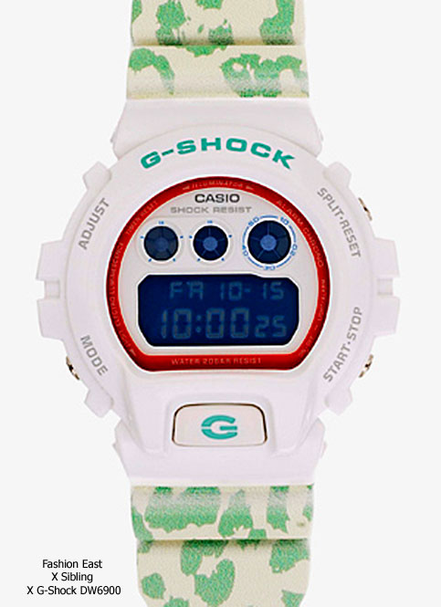 Fashion East x Sibling x G-Shock collaboration watch 2012 dw6900