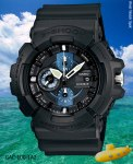 gac-100-1a2 g-shock inspired by the hatch on a submarine stop watch flexible band