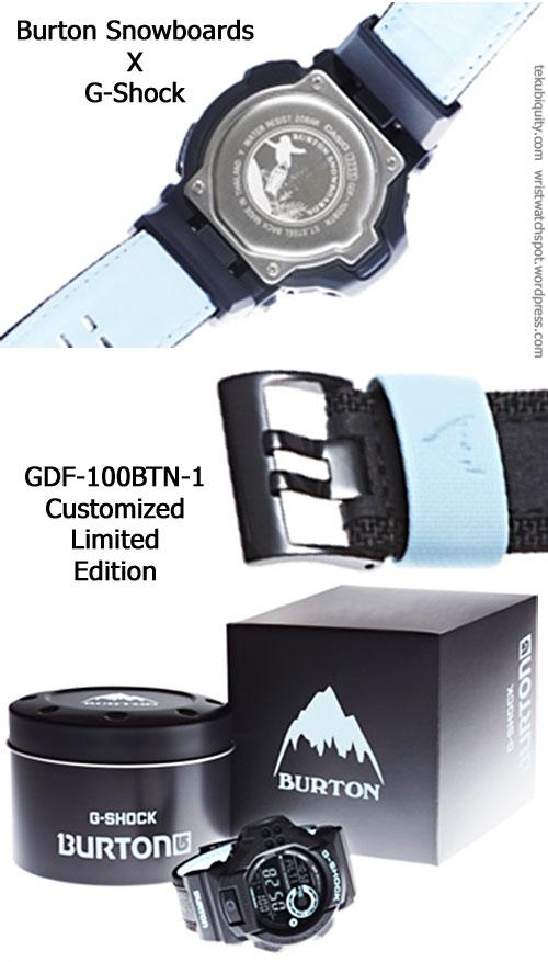 gdf-100btn-1_burton_2012 special limited edition snowboard casio g-shock
