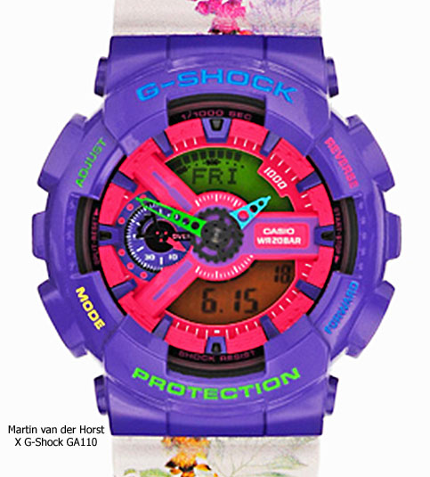 martin van der horst x fashion east x g-shock ga110 collaboration watch