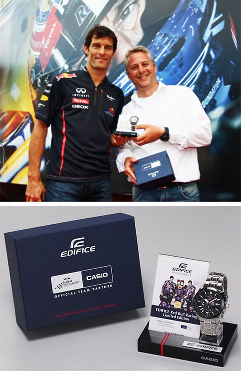 edifice collaboration casio mark webber efr520rb-1a monaco fi winner