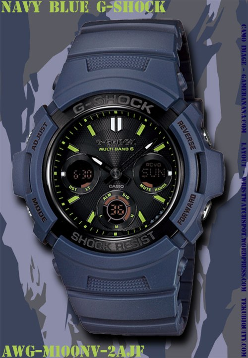 awgm100nv-2a navy blue g-shock new watch 2012 price military
