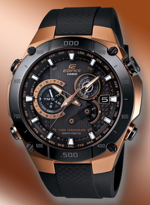 eqw-m1100cg-1a edifice casio rose gold new 2012 watch