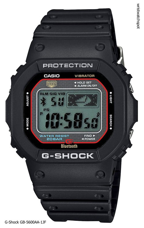 g-shock_gb-5600aa-1_iphone 4s 5 apple g-shock bluetooth smart watch