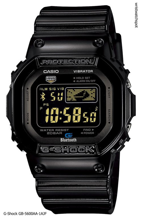 -shock_gb-5600aa-1a_iphone 4s 5 apple g-shock bluetooth smart watch