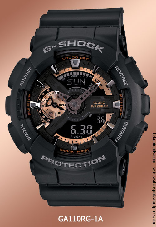ga110rg-1a_rose_gold g-shock watch 2012